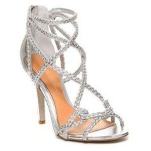 Stunning braided silver heels